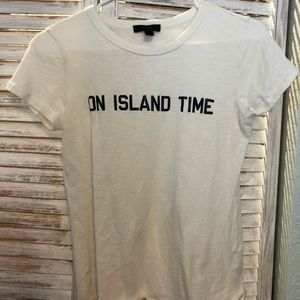 Jcrew island time graphic tee